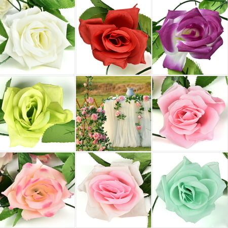 CUH Artificial Rose Flower Vine Garland Silk Flower for Home Wedding Garden Party Decoration](Girls Vine)