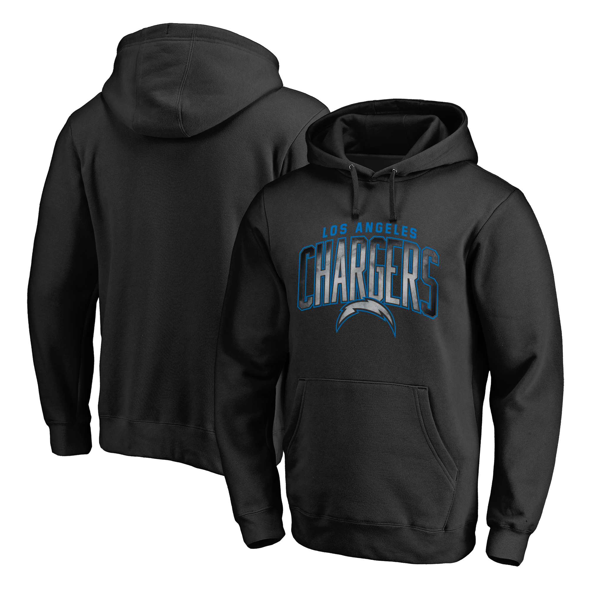 Los Angeles Chargers NFL Pro Line by Fanatics Branded Arch Smoke Pullover Hoodie - Black