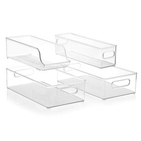 InterDesign Stackable Kitchen Storage Organizer Bins for Fridge, Freezer, Pantry (Fridge Organizers)