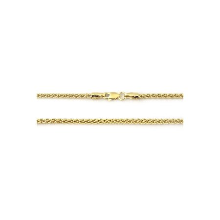 14k Yellow Gold Lightweight 2.8mm Wheat Chain Necklace, 18 20 22 24