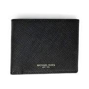 Michael Kors Men's Harrison Slim Billfold Wallet Leather No Box Included (Black)