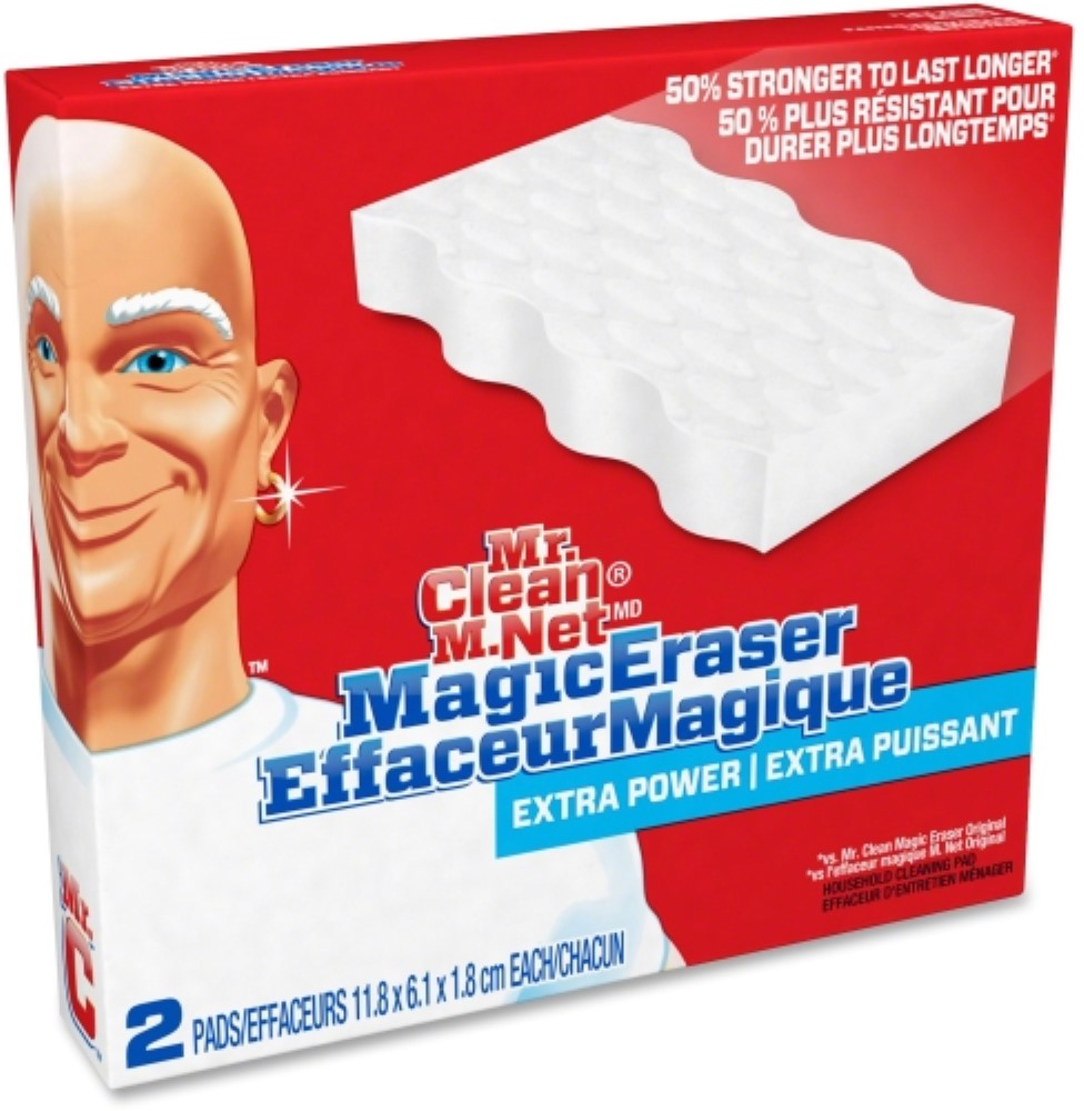 Mr Clean Pgc82027pk Original Magic Eraser Cleaning Pads 4 Pack Blue White