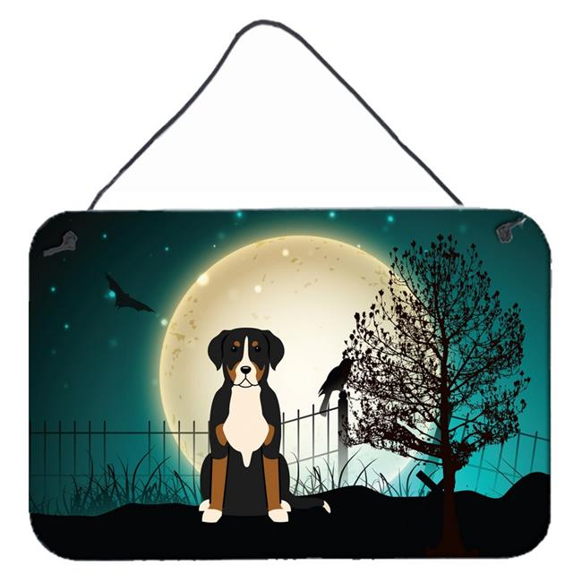 Carolines Treasures BB2227DS812 Halloween Scary Greater Swiss Mountain Dog Wall or Door Hanging Prints - image 1 de 1