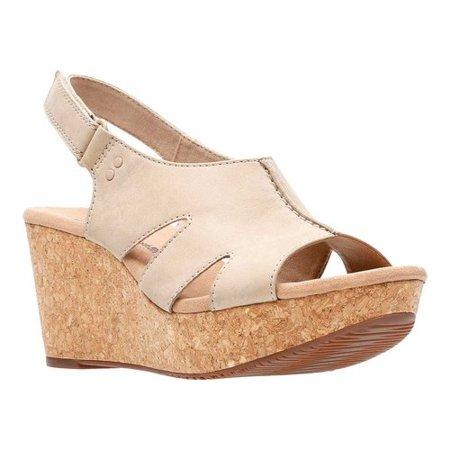 b553b5c485bd Clarks - Womens Clarks Annadel Bari Platform Wedge Sandals