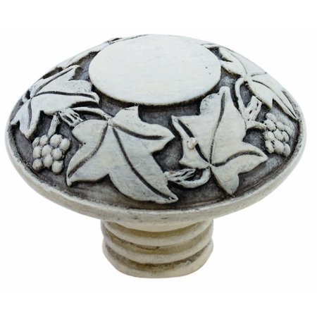 Faux Ivory Carved Leaf & Grape Knob 42mm