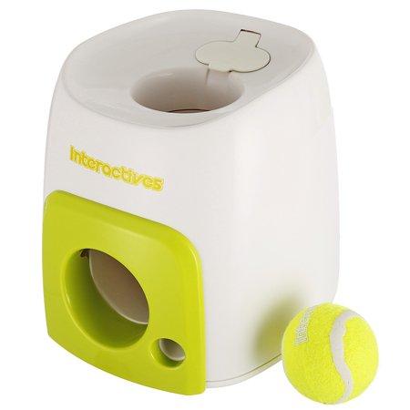 Pet Dog Puppy Interactive Fetch Ball Trainning Baseball Reward Machine Tennis Pet Funny Toys for Small Animals ()
