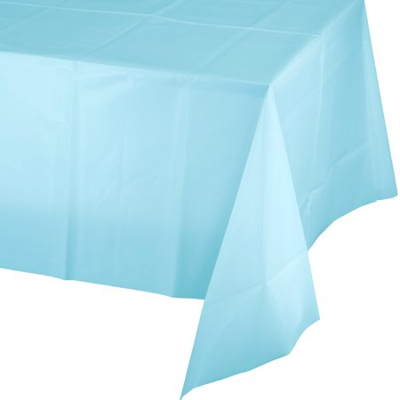 Baby Blue Plastic Table (Value Pastel Baby Blue Rectangular Plastic Tablecover (1 ct))