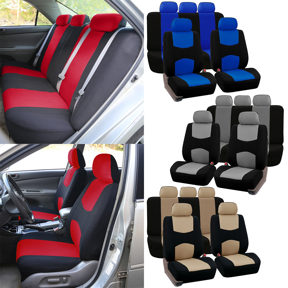 2016 New Style Breathable Front Rear Universal Car Seat Covers Luxury Cute Auto Car Seat Covers Vehicles Accessories