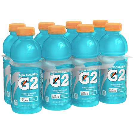 Gatorade G2 Thirst Quencher Low Calorie Sports Drink  Glacier Freeze  20 Fl Oz  8 Ct