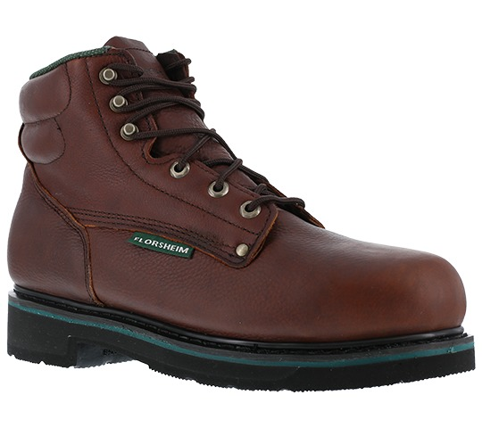 """Florsheim Work FE665 Utility 6"""" Steel Toe EH Rated Lace Up Leather Work Boots by"""