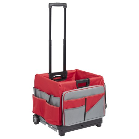 Universal Rolling Cart and Organizer Bag - Red
