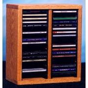desktop or shelf CD Cabinet (Honey Oak)