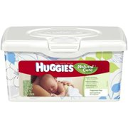 4 Pack - HUGGIES Natural Care Baby Wipes, Unscented  64 ea