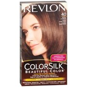 Revlon Colorsilk Beautiful Color, Permanent Hair Dye with Keratin, 100% Gray Coverage, Ammonia Free, 40 Medium Ash Brown