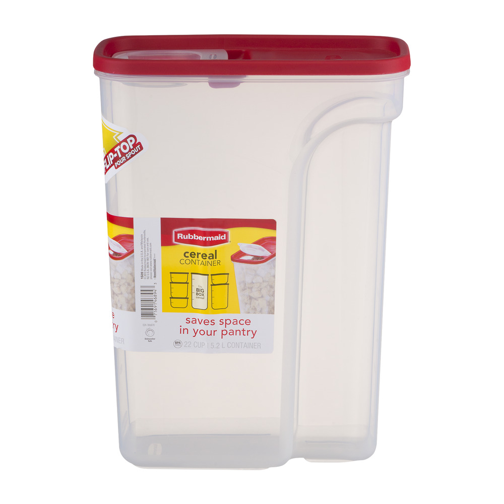 Rubbermaid 22 Cup Flip Top Cereal Keeper, BPA Free Modular Food Storage  Container,