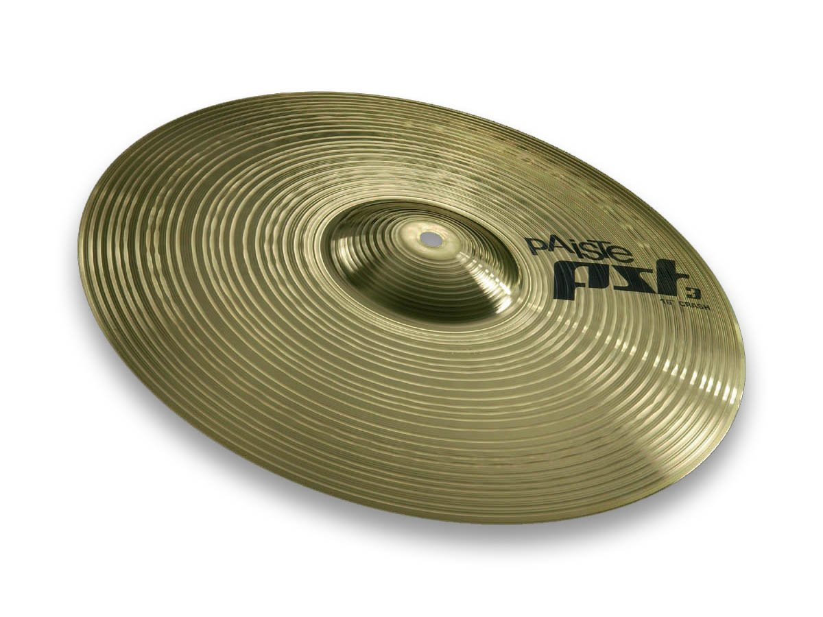 Paiste 631416 Pst 3 Series 16 Inch Crash Cymbal With Integrated Bell Character by