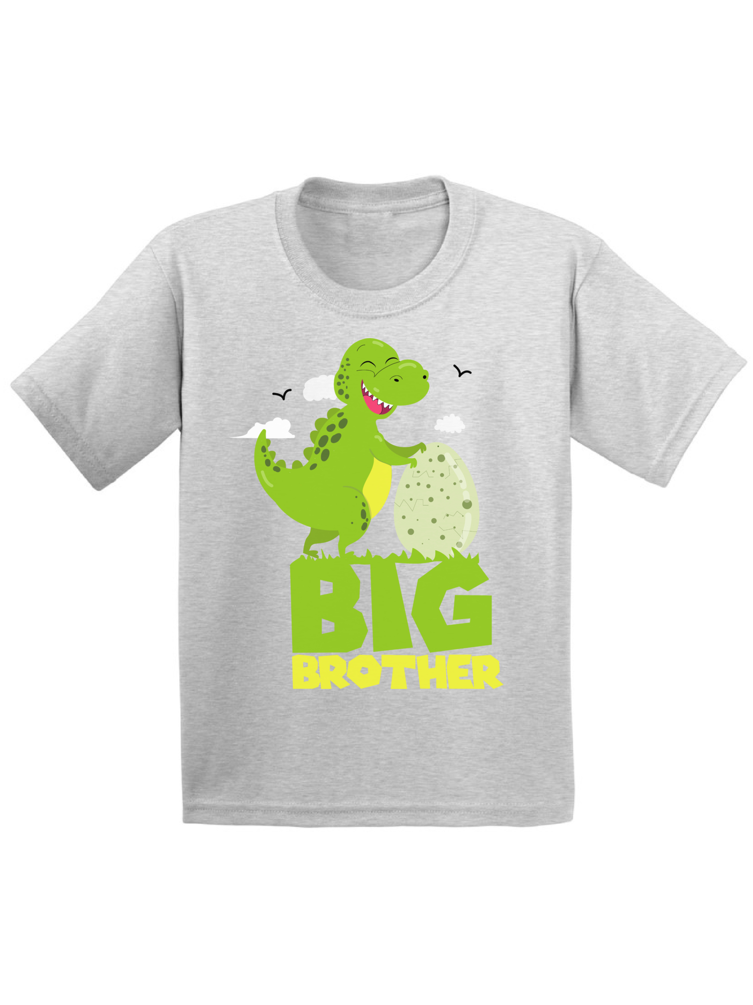 Gift for Big Brother 2020 T-Rex Boy Toddler Kids T-Shirt Siblings