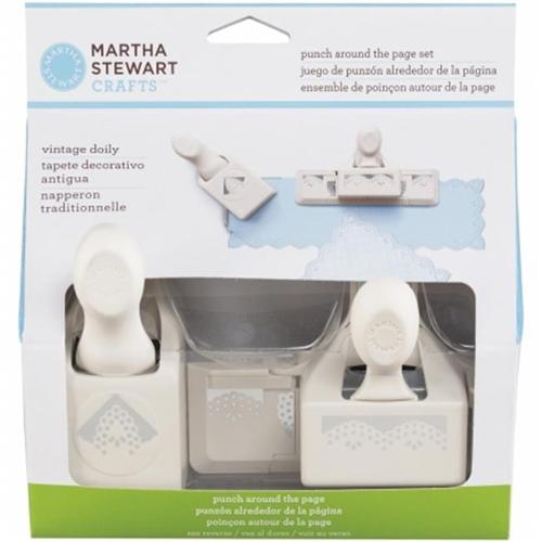 Martha Stewart 42-60066 Martha Stewart Punch-Around-The-Page Combo-Vintage Doily
