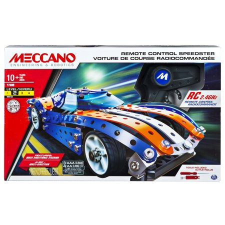 Erector by Meccano, Remote Control Speedster Model Vehicle Building Set, with 2.4GHz, For Ages 10 and up, STEM Construction Education Toy