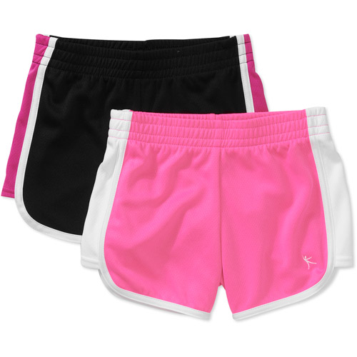 Danskin Now - Girls Mesh Shorts, 2 Pack