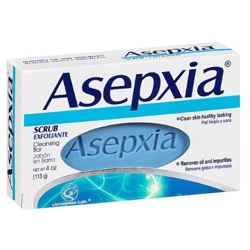 Asepxia Scrub Exfoliante Cleansing Bar Soap 4 oz (Pack of 4)