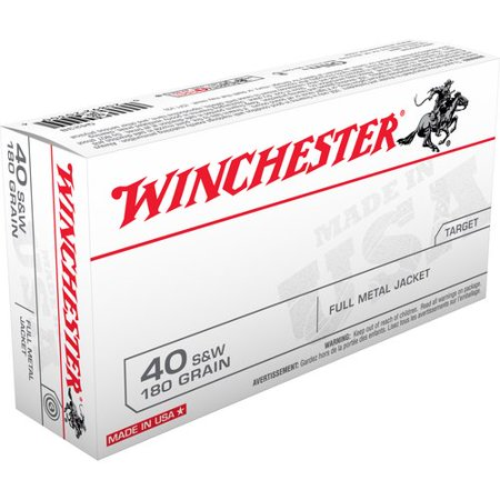 Winchester USA WinClean 40 S&W Bullets, Box of 50