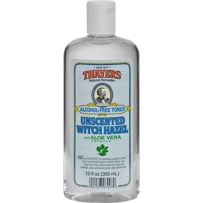Thayers HG0458869 12 fl oz Witch Hazel with Aloe Vera Unscented