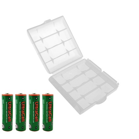 UltraCell Plus NiZn 1.6v AA - 2800mWh High Voltage Rechargeable Batteries With Battery Storage Box (Combo for 4pcs AA + 1pcs Clear Battery Box) - Plus Size Halloween Costume Stores