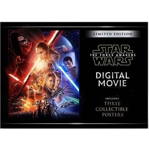 Star Wars: The Force Awakens Digital Movie (Includes Three Collectible Posters)