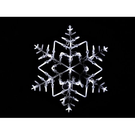 18 led lighted snowflake double sided christmas window for 16 lighted snowflake christmas window silhouette decoration