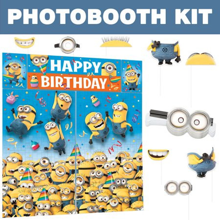 Despicable Me Photo Booth Kit - Party Supplies - School Supplies Stores Near Me