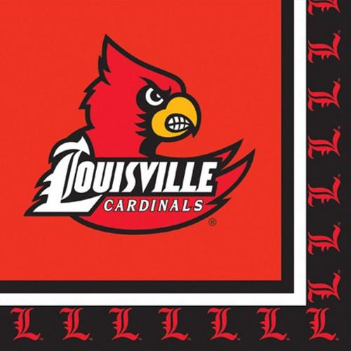 Club Pack of 240 NCAA Louisville Cardinals 2-Ply Tailgating Party Lunch Napkins