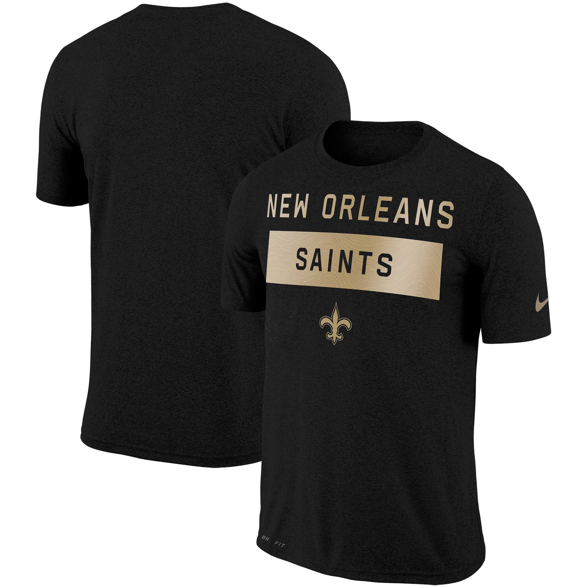 New Orleans Saints Nike Sideline Legend Lift Performance T-Shirt - Black