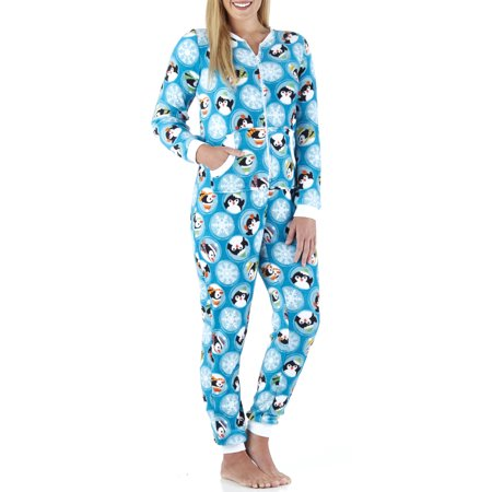 PajamaMania Women's Plush Fleece Non-Footed Onesie Pajamas - Fun Onesie For Adults