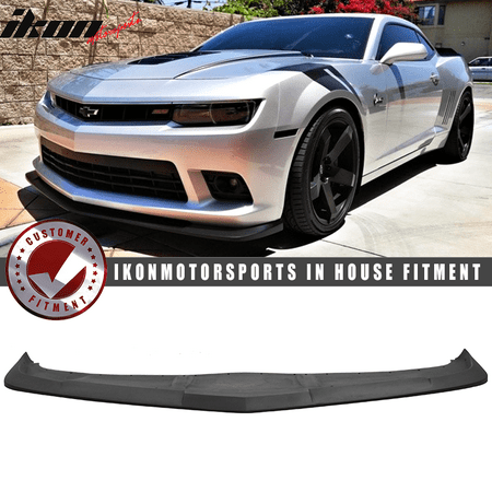 - Fits 14-15 Chevy Camaro SS 1LE Style Splitter Front Bumper Lip PU