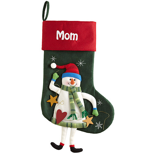 Personalized Dangling Legs Christmas Stocking, Snowman