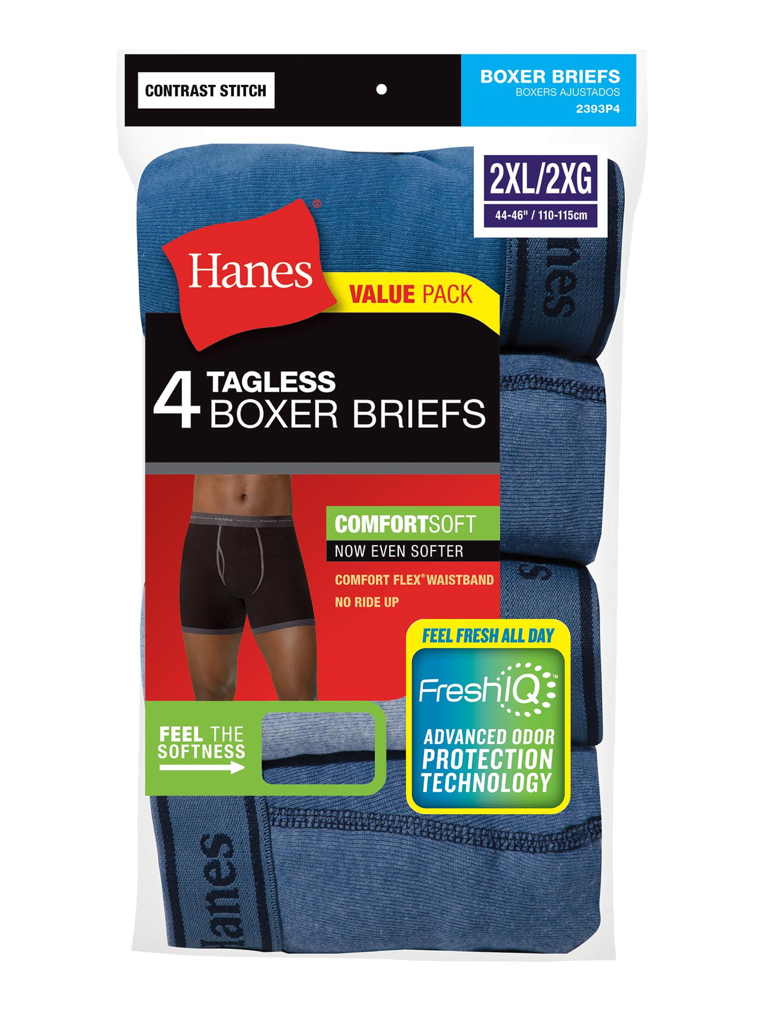 55f91de33 Hanes - Red Label Men's 4-Pack No Ride Up Boxer Briefs - Walmart.com