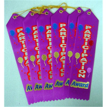 DIPLOMA MILL DM-AR05 AWARD RIBBON PARTICIPATION 6-PK Diploma Mill Award Ribbon