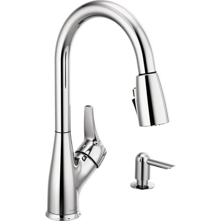 Rless Apex Single Handle Pull Down Sprayer Kitchen Faucet With Soap Dispenser In Chrome P7901lf Sd W