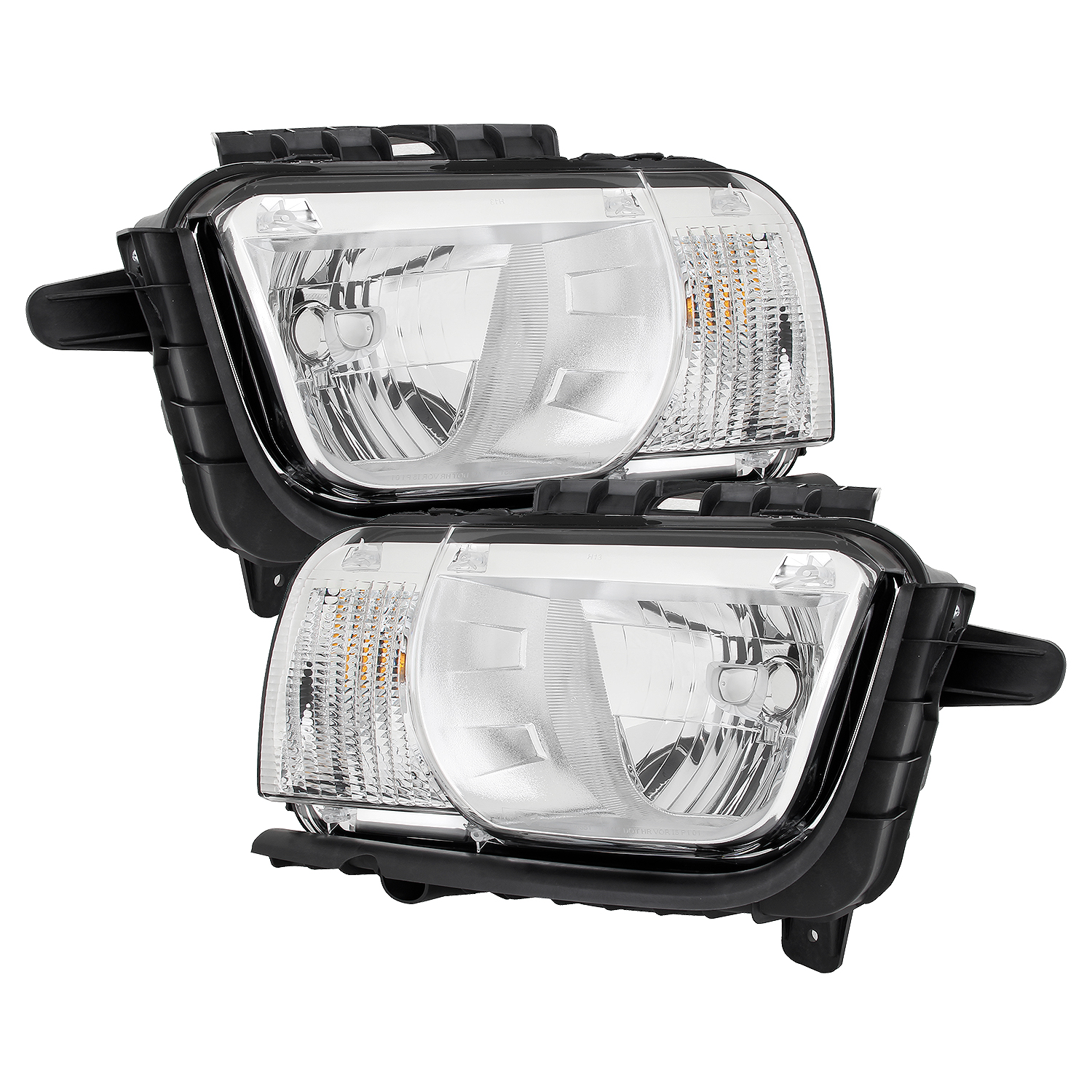 Fits 2010 2011 2012 2013 Chevy Camaro LH + RH Side Headlights Front Lamps Pair