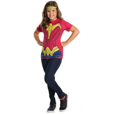 Wonder Woman Top Child Halloween Costume - Wonder Woman Costume For Kids