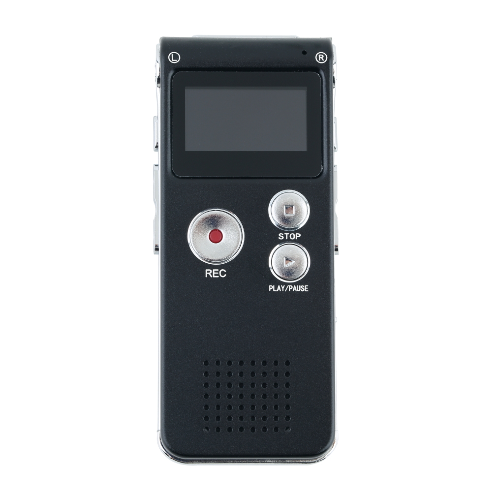 8GB Digital Voice Recorder Rechargeable 650Hr Dictaphone Telephone Portable MP3 Player( Black)