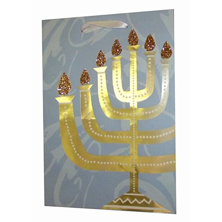 Hanukkah Menorah Medium Gift Bag-10""