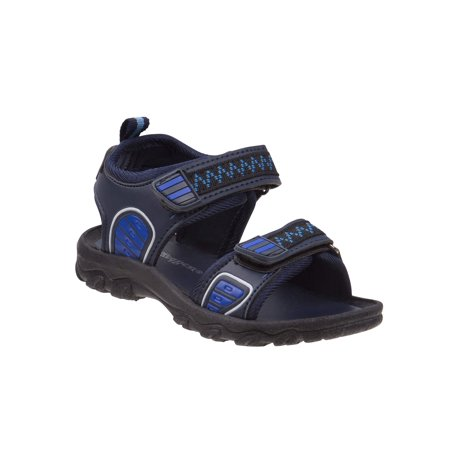 Rugged Bear Boys' Plastic Patch Sandals (Mens Rugged Casual Sandal)