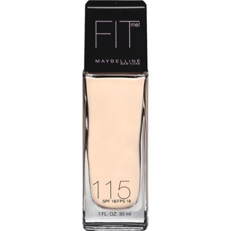 Maybelline; Fit Me; Dewy + Smooth Foundation, 115 Ivory, SPF 18, 1.0 fl oz