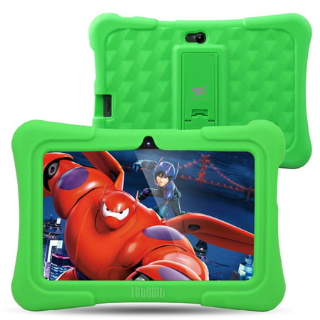 Dragon Touch Y88X Plus 7 inch Kids Tablet Quad Core Pre-Installed CPU Android 5.3 Lollipop IPS Display Kidoz(Green)](Pink And Green Lollipops)