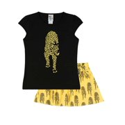 Girls Outfit Graphic Tee and Skort Kids Set Pulla Bulla Size 2-10 Years