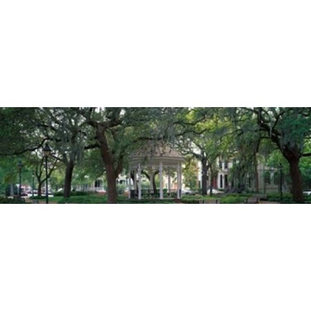 Whitefield Square Historic District Savannah GA Canvas Art - Panoramic Images (39 x (Printable Map Of Savannah Ga Historic District)