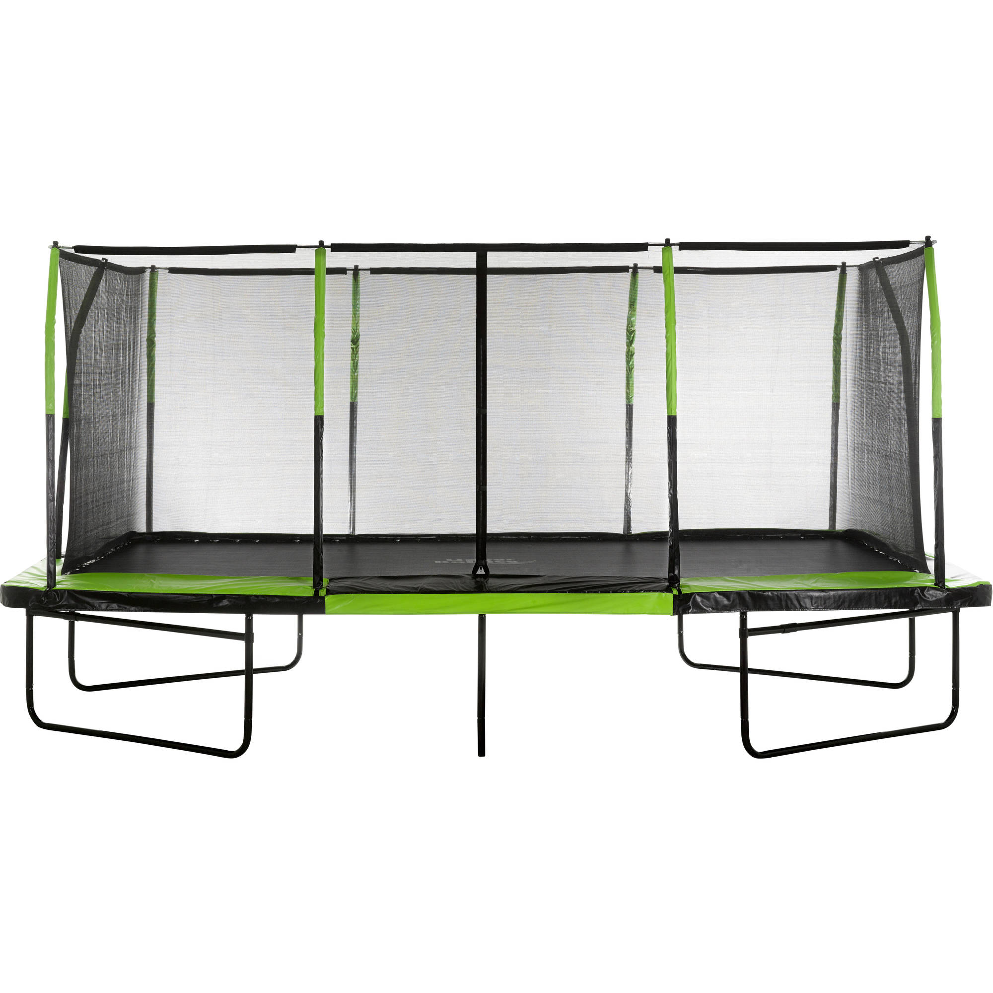 Upper Bounce Rectangle 10 x 17 Foot Trampoline, with Enclosure, Green