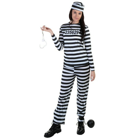 Plus Size Womens Prisoner Costume - Prisoner Of Love Costume Halloween